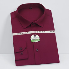 Men Shirts Square-Collar Stretch Full-Sleeve Casual 5xl Plain Soft Recommend Well-Fit