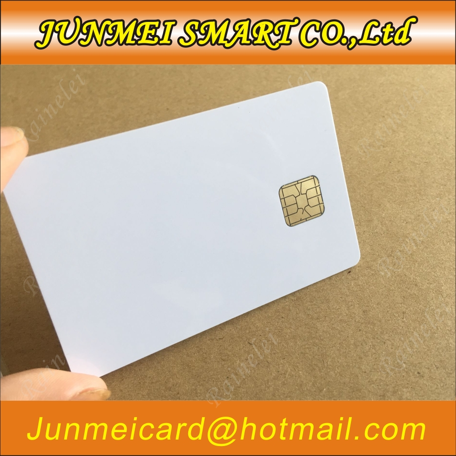 SLE 4428 Kontaktieren IC Großen Chip-Weiß PVC Smart Card 30mil Glänzend Für ACR38U BMC Reader Schriftsteller 50 stücke