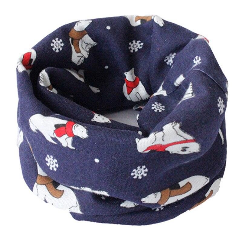 Весенне-осенне-зимний детский хлопковый шарф для От 0 до 10 лет, Детские шарфы с героями мультфильмов, модный теплый воротник - Цвет: 49