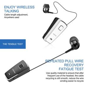 Image 4 - Fineblue F970 Pro Mini Portable in ear 10 hours Bluetooth 5.0 neck clip telescopic type business Sport Earphone Vibration bass