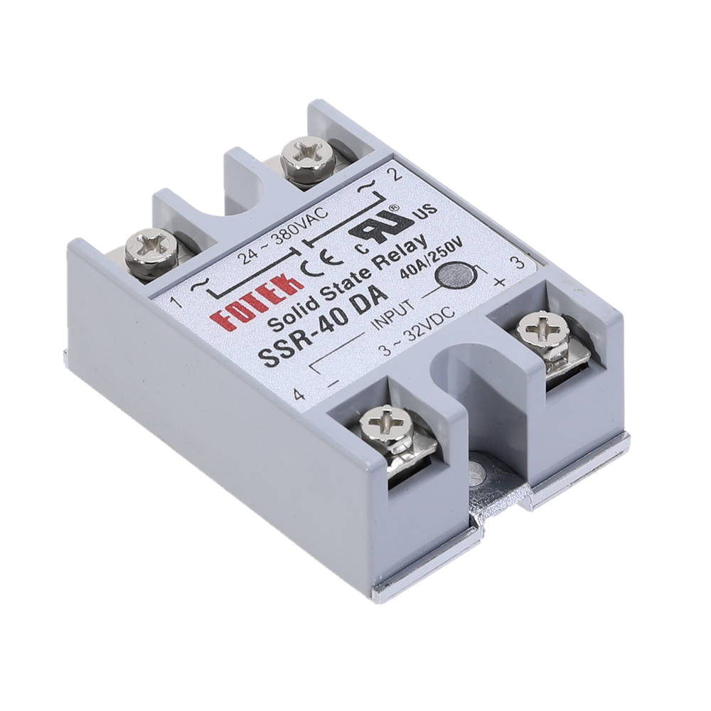 Solid State Relay <font><b>SSR</b></font>-<font><b>40DA</b></font> 40A Actually 3-32V DC TO 24-380V AC <font><b>SSR</b></font> <font><b>40DA</b></font> relay solid state Resistance Regulator image