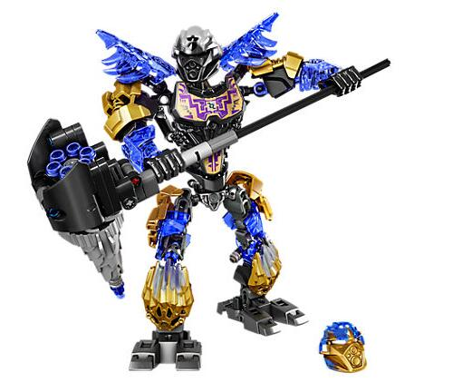 XSZ 611-2 Biochemical Warrior BionicleMask of Light Onua Earth Building Block Compatible with Bionicle Toys 71309