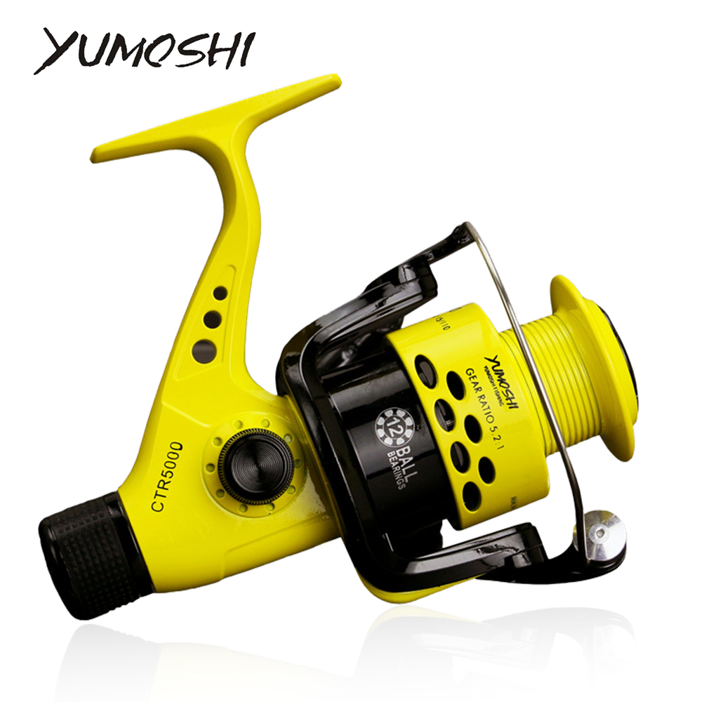 CTR2000-7000 12BB 5.5:1 Spinning Fishing Reel Foldable Arm Rocker Carretos Pesca Lightweight Carp Fishing Reels Spinning Wheels