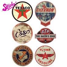 Autocollant d'huile adhésif STP Vintage Retro Racing Hotrod USA, Badge de marque, autocollant de voiture, décor moto tout-terrain ordinateur portable