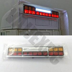 Светодиодный предупреждающий светильник из алюминия для грузовиков и тракторов Tamiya 1/14, с дистанционным управлением, R470, R620, 56360, TGX, VOLVO FH12