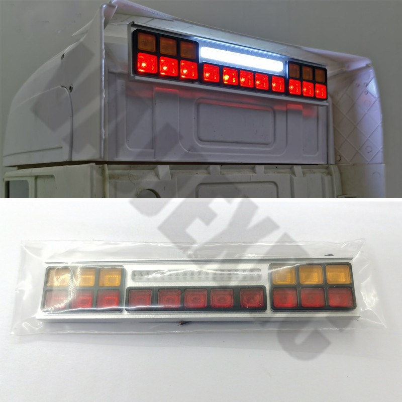 LED Aluminum Warning <font><b>Light</b></font> for Tamiya 1/14 Remote Control Scania Tractor <font><b>Truck</b></font> R470 R620 56360 MAN TGX VOLVO FH12 image