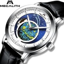 Relogio Masculino 2020 MEGALITH אוטומטי שעון גברים למעלה מותג יוקרה מכאני אוטומטי שמי זרועי הכוכבים שעון גברים עמיד למים שעון