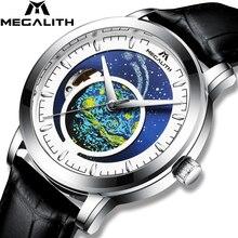 Reloj Masculino 2020 MEGALITH automático, reloj de hombre de marca de lujo, reloj mecánico automático con cielo estrellado, reloj a prueba de agua para hombres