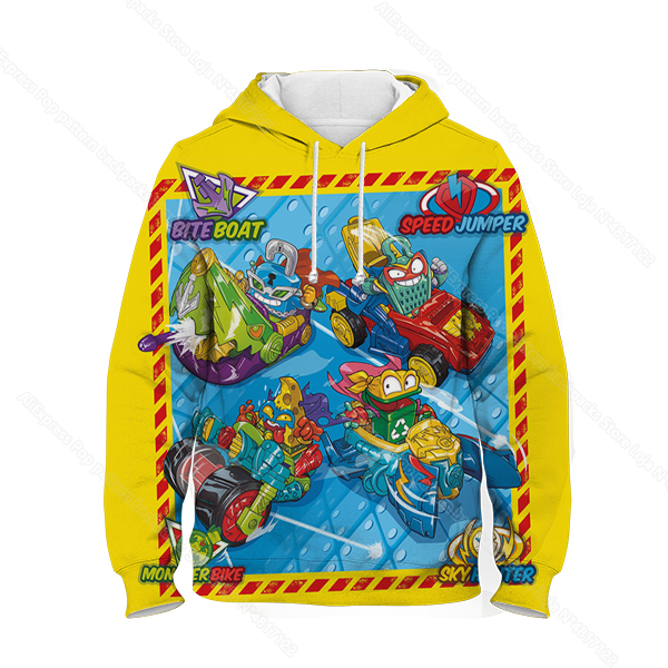 Kids 3D Print Super Zings Hoodie Autumn Winter Children Superzings 6 Series Sweatshirt Sudadera Boy Girl Cartoon Anime Pullover 36