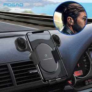 2 in 1 15W Fast Car Qi Wireless Charger Air Vent Mount Holder For iPhone 11 8 X XS XR Type C Quick Car Charger Bluetooth Headset