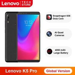Перейти на Алиэкспресс и купить global version lenovo k5 pro snapdragon 636 octa core smartphone 6gb ram 64gb rom 5.99 inch four cameras 4050 mah 4g phones
