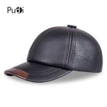 цена на HL100  genuine leather men baseball cap hat CBD high quality  men's real leather adult solid adjustable hats caps