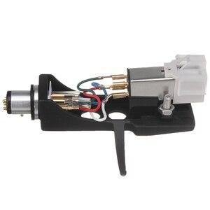 Image 4 - 1 pz stilo a cartuccia magnetica con giradischi Headshell contatti a 4 Pin per giradischi fonografo grammofono LP ago in vinile