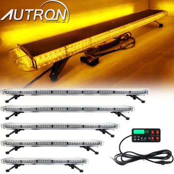 "34"" 47"" 65"" Strobe Light Bar LED Emergency Warning Signal Safety Tow Plow Truck Wrecker Roof Top Amber 12/24V"