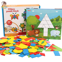 250 Pcs Puzzle Games Wooden Toys Kids Educational Toys For Children Jigsaw Puzzle Learning Wood Developing Toys For Boys Girls стоимость