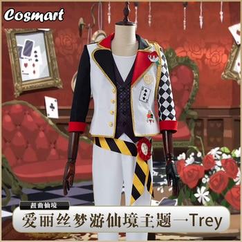 Juego Twisted Wonderland Trey traje uniforme para Cosplay disfraz de Alicia en el país de las Maravillas carnaval Halloween para Mujeres y Hombres Nuevo 2020