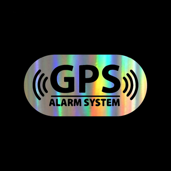 Car Sticker GPS Alarm Location Car Bumper Stickers and Decals Car Styling Decoration Door Body Window KK Vinyl Car Stickers 2x diesel emission cheats enabledfunny decals stickers motorcycle suvs bumper window car stylings vinyl decals