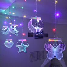 Mariage Decorative Light Room USB LED String Light With Love Star Butterfly Pendant Remote Control Colorful White Wedding Light