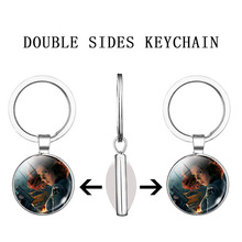 Iron Man Keychain Avengers glass ball Key Ring Ironman Pendant Key Chain Movies Jewelry the avengers thanos gauntlet keychain movie infinite gloves stone metal car key chain man bag pendant key ring