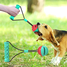 dog toy ball pet toy bite resistant sound making elastic ball large dogs molar golden retriever teddy tooth cleaning training ba Pet supplies Interactive toy dogs pull training ball food leaks molar rod pull rope toy bite resistant large medium dog chew toy