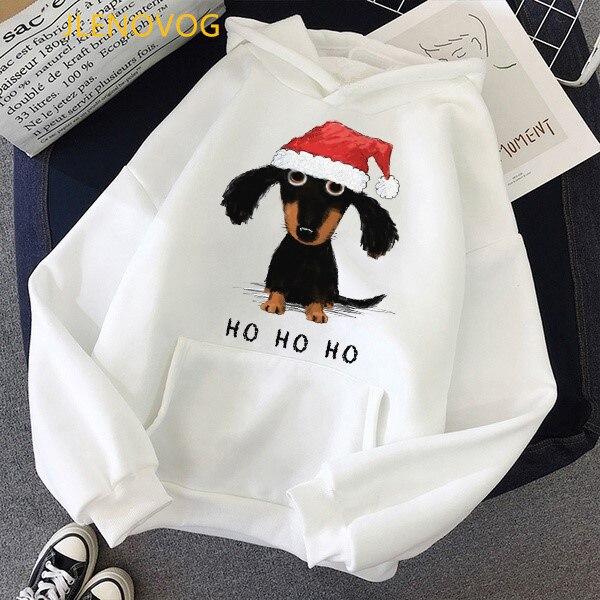 Cute Dachshund Dog Love Cartoon Print Hoodies Women Clothes 2021 Funny Vogue Sweatshirt Femme Harajuku Kawaii Winter Tracksuit 12