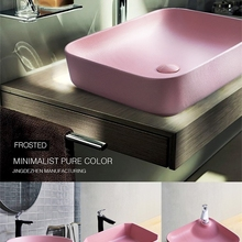 Керамическая Бытовая раковина для умывальника, простая ванная комната, маленькая чаша для раковины, розовая терраса, умывальник, раковина для ванной комнаты