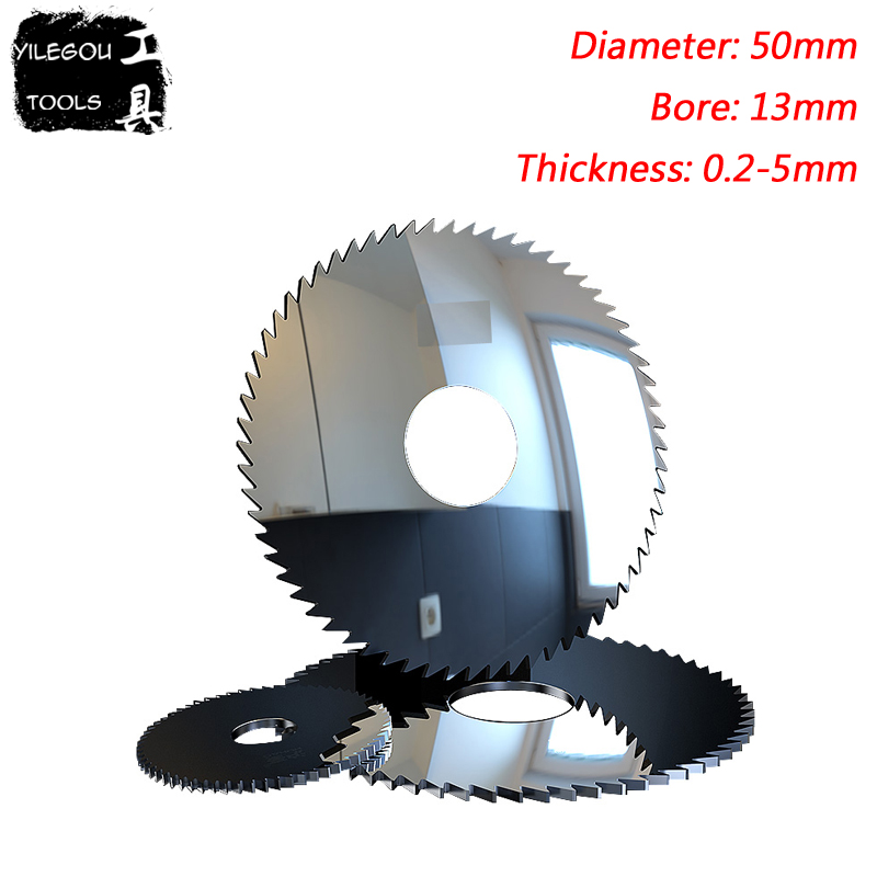 50mm Solid Tungsten Carbide Steel Circular Saw Blades, 50mm*72 Teeth Tungsten Steel Milling Cutter, Thickness 0.2-4mm, Bore 13mm