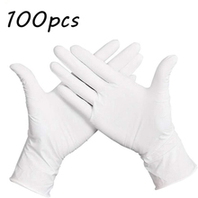 100pcs Nitrile Disposable Kitchen Gloves Ideal for Food Prep and Cleaning Service Cooking Plastic Goves Powder Free Latex Glove