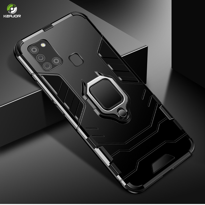 Armor Case For Samsung Galaxy A21S Case Magnetic Holder Silicone Back Cover For Samsung A21s A 21S Phone Case Shockproof Bumper
