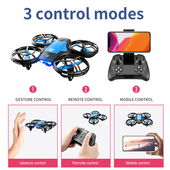 4DRC V8 New Mini Drone 4k profession HD Wide Angle Camera 1080P WiFi fpv Drone Camera Height Keep Drones Camera Helicopter Toys 3