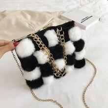 new bags for women 2019 autumn Shoulder Bags luxury wool handbags designer crossbody black white Hairball