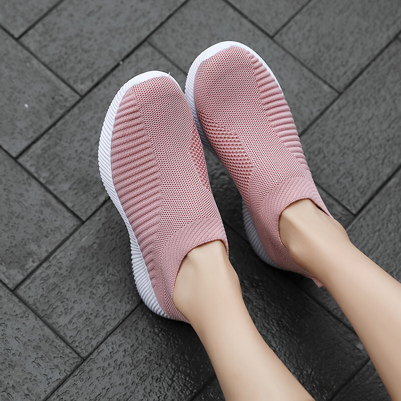 Spring And Summer New Black Stretch Socks Shoes Flat Low-top Sports Casual Shoes Lightweight Large Size Women's Shoes