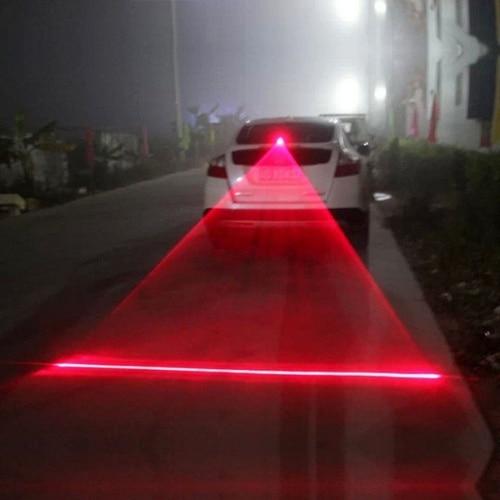 Авто светодиодный лазерный туман светильник мотоцикла задний фонарь автомобиля анти-столкновения хвост светильник Тормозная Предупрежде...