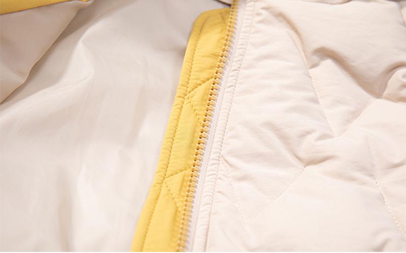 2019 Winter New Short Jacket Women Standing Collar Female Hooded Coat_B6_17