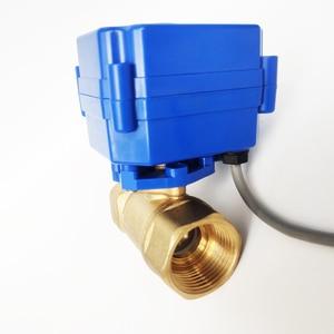 "Image 3 - 3/4 ""真鍮電気作動弁、 DC12V morotized バルブ 5 ワイヤー (CR05) 制御、 DN20 電気バルブ位置フィードバック"