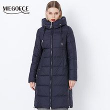 MIEGOFCE 2019 Thick Winter Windproof Coat Stand-Up Collar Hooded Winter Jacket High Quality Sale Winter Collection Women's Parka(China)