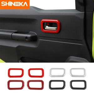 Image 1 - SHINEKA molduras interiores para Suzuki Jimny JB74, manija de puerta Interior de coche, accesorios de decoración para Suzuki Jimny 2019 +