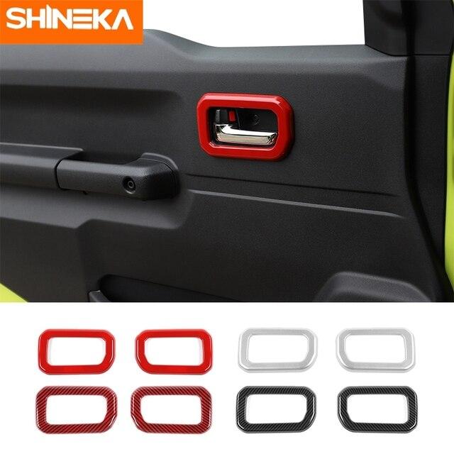 SHINEKA molduras interiores para Suzuki Jimny JB74, manija de puerta Interior de coche, accesorios de decoración para Suzuki Jimny 2019 +