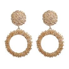 LEGENSTAR Best Selling French Gold Round O Shaped Hoop Drop Earrings For Women Fashion Jewelry Metal Big Earings Minimalist 2019