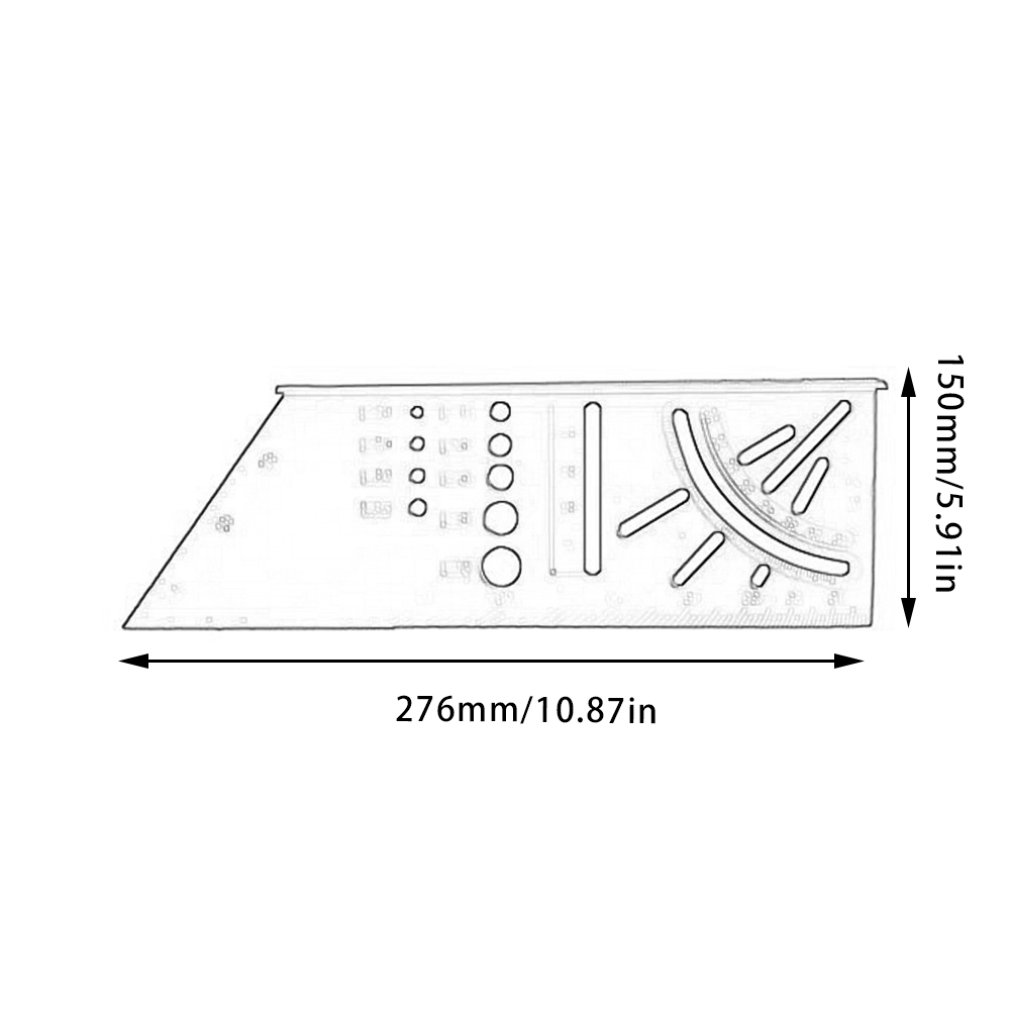 Woodworking 3D Mitre Angle Measuring Square Size Measure Tool With Gauge & Ruler Tools