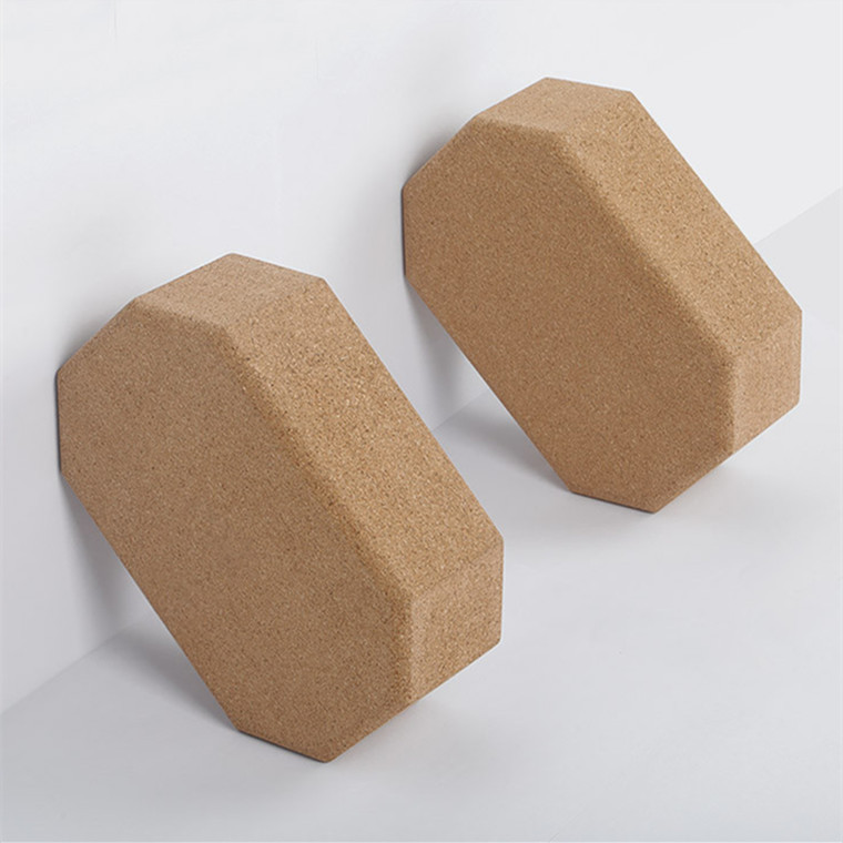 Hexagonal Octagonal Cork Yoga block 369 Size to Do Logo