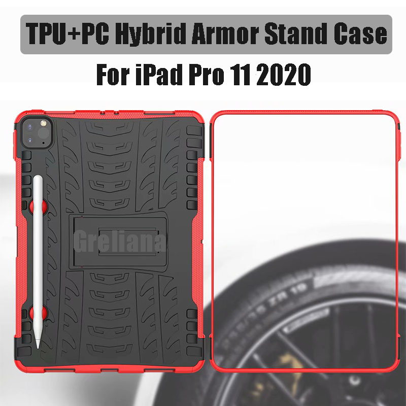 11 Armor Holder With Cover Pro Pencil 2020 Stand New For Flip Case iPad Case Shockproof