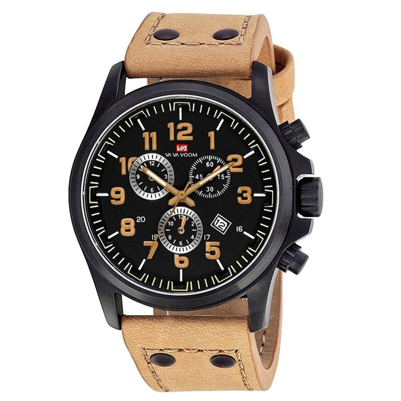 2020 New Military Outdoor Field Sports Army Quartz Watch Calendar Waterproof Belt Men's Watch For Men Birthday Gift