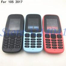 Funda de teléfono completa + bisel medio + teclado en inglés, para Nokia 105, 2017, TA-1010, nueva