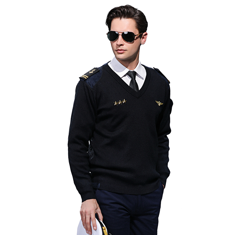 Men's New Style Sweaters Autumn Winter Warm Cashmere Wool Pullover Ship Sailor Man Casual Navy Uniform Sweatercoat Male Clothes