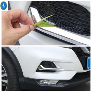 Image 4 - Chrome / Carbon Fiber Look Front Fog Lights Lamps Eyelid Eyebrow Stripes Cover Trim Fit For Nissan Qashqai J11 2018 2019 2020