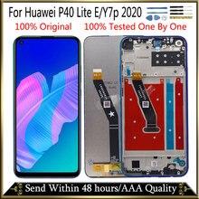 """6.39 """"オリジナル + フレーム表示huawei社P40 lite e lcdディスプレイY7p 2020 タッチスクリーンアセンブリ液晶huawei社P40 lite eの表示"""