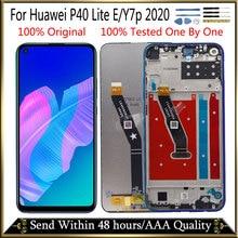 Pantalla de Marco + Original de 6,39 pulgadas para Huawei P40 lite E, pantalla LCD Y7p 2020, montaje de pantalla táctil LCD para Huawei P40 lite E Display