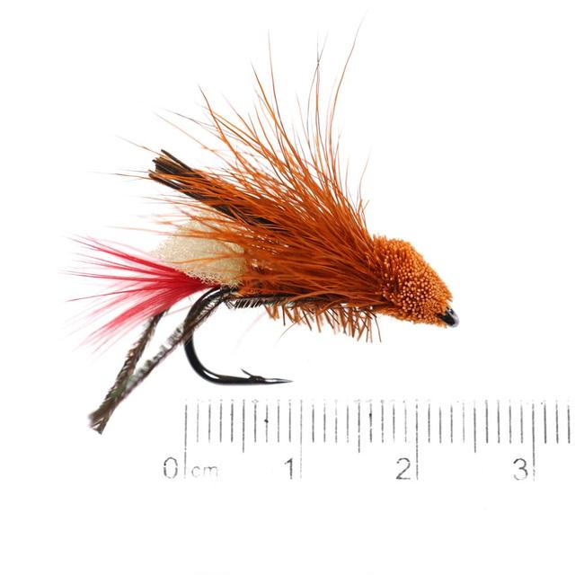 5PCS #10 Trout Fishing Fly Grass Hopper Fly terrestrial Hopper Fly Floating Bass Crappie Bug Bait Artificial Lure 2