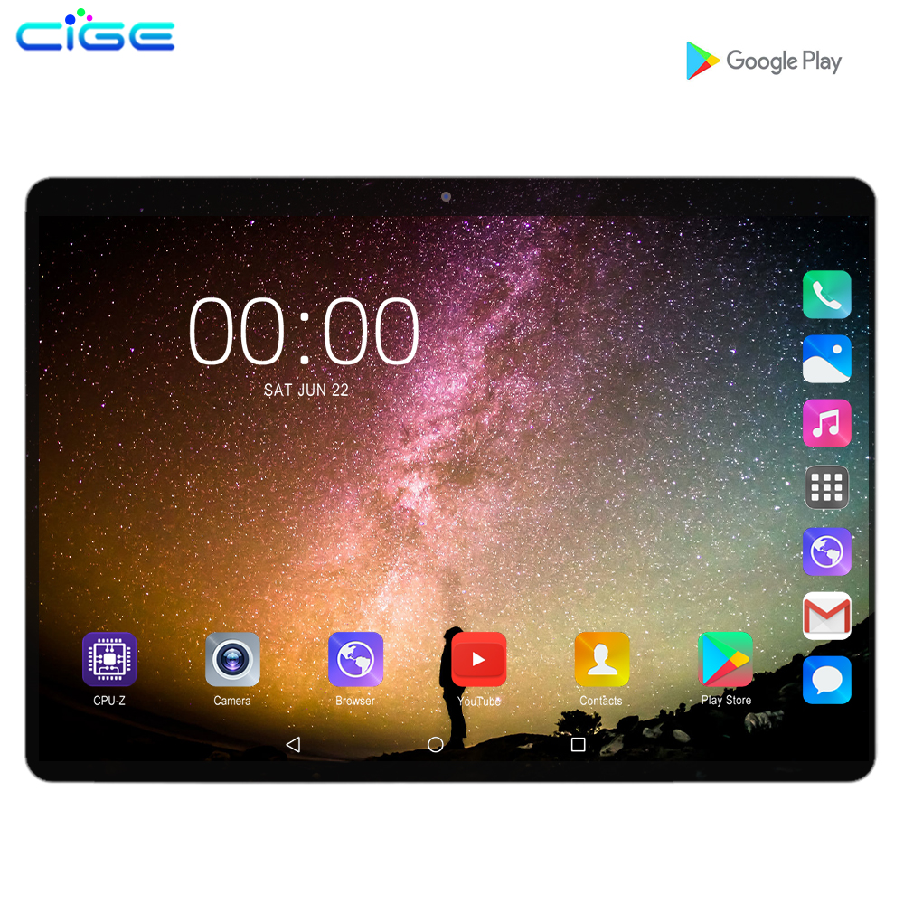 Hot Super 10 Inch Tablet PC Octa Core 6GB RAM 128GB ROM Android 9.0 WiFi GPS Dual SIM 3G 4G Network Phone Call Tablets Pad 10.1